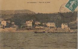 CPA Toilée Le Lavandou - Vue De La Jetée - Le Lavandou