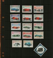 MONACO - 1967 - 25th MOTOR GRAND PRIX - 15 Stamps - MNH - Monaco