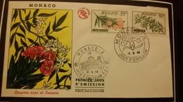 1°  Jour.d'émission..FDC ..MONACO .. 1959...  LAURIER  ROSE  ET  JASMIN - Joint Issues