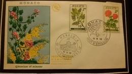 1°  Jour.d'émission..FDC ..MONACO .. 1959...  GERANIUM  ET MIMOSA - Joint Issues