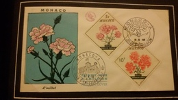 1°  Jour.d'émission..FDC ..MONACO .. 1959... L'OEILLET - Joint Issues