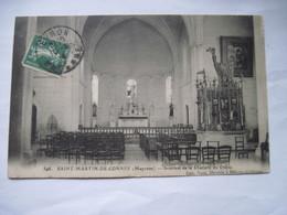 CPA  53 SAINT -MARTIN-DE-CONNEE Intérieur De La Chapelle Du Chene 1914    TBE - France