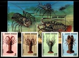 (032 + 46) Cape Verde  Lobsters / Hummer / 1993  ** / Mnh  Michel 658-61 + BL 24 - Kap Verde