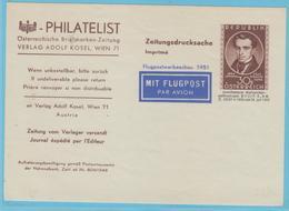 J.M. 24 - Entier Postal - Autriche - N° 3 - Compositeur - J. Strauss Père - Etiquette Adresse - Musique