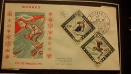 1°  Jour.d'émission..FDC ..MONACO .. 1960...  XV °  JEUX  OLYMPIQUE - Joint Issues