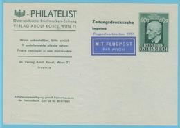J.M. 24 - Entier Postal - Autriche - N° 4 - Compositeur - Bruckner - Etiquette Adresse - Musique