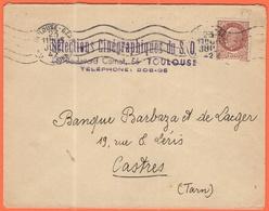 FRANCIA - France - 1942 - 1,50F Pétain - Selections Cinégraphiques Du S.O. - Viaggiata Da Toulouse Per Castres - Storia Postale