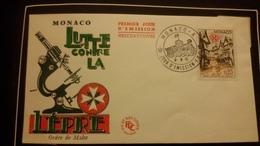 1°  Jour.d'émission..FDC ..MONACO .. 1961 ..  ORDRE  DE  MALTE..lutte Contre La  Lepre - Joint Issues