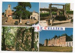 LE CELLIER --- Multivues( église,calvaire,voitures,pressoir,les Folies Siffait,chateau De Clermont) - Le Cellier