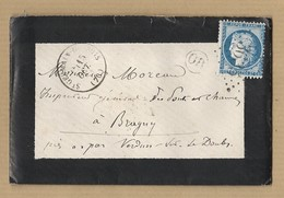 Cérès 60 Sur Enveloppe Avec Correspondance Du 1 Janvier 1876 TAD 16 St Germain Du Bois GC 3635 MP OR Verso Passe 1207 - 1849-1876: Classic Period