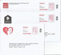 Prêt à Poster Réponse, POSTREPONSE  PRIO 20g, Lettre Prioritaire, Ciappa-Kavena, 3 Enveloppes Neuves, TB. - Entiers Postaux