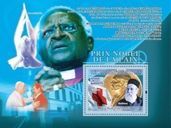 GUINEA 2008 SHEET PRIX NOBEL DE LA PAIX NOBEL PRIZE PEACE HENRI DUNANT RED CROSS CROIX ROUGE POPE JOHN PAUL II Gu0870a - Guinée (1958-...)