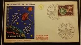 1°  Jour.d'émission..FDC ..MONACO .. 1963 ..  Mondiovision  EUROPE  AMERIQUE - Joint Issues