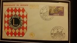 1°  Jour.d'émission..FDC ..MONACO .. 1963 ..   LIONS  INTERNATIONAL - Joint Issues