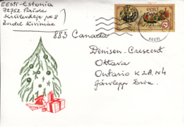 Estonia To Canada 2004 Cover Sc #465 6.50k Ancient Trade Routes Joint With Ukraine - Estonie