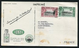 158 Et 159 / CP - Sierra Leone (...-1960)