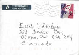 Estonia To Canada 1999 Cover Sc #341 7k World Cup Soccer Championships - Estonie