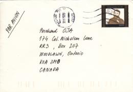 Estonia To Canada 1997 Cover Sc #320 7k Heinrich Von Stephan, UPU Founder - Estonie