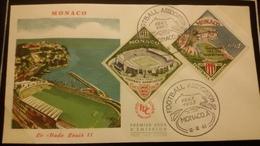 1°  Jour.d'émission..FDC ..MONACO .. 1963 ..   Le  Stade  LOUIS II - Joint Issues