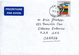 Estonia To Canada 2003 Cover Sc #399 8k Discus Thrower Summer Olympics Sydney - Estonie