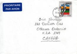 Estonia To Canada 2002 Cover Sc #399 8k Discus Thrower Summer Olympics Sydney - Estonie