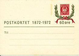Norway Postcard Postal Stationery In Mint Condition ( Postkortet 1872 - 1972 60 öre) - Norway