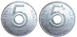 04349 GETTONE TOKEN JETON TRASPORTO TRANSIT BUS NATION TRANSPORT TOKEN 5 - Royaume-Uni