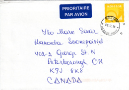 Estonia To Canada 2010 Cover Sc #649 9k Posthorn, Yellow - Estonie