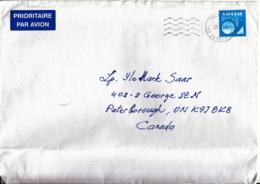 Estonia To Canada 2008 Cover Sc #585 9k Posthorn, Blue - Estonie