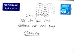 Estonia To Canada 200? Cover Sc #585 9k Posthorn, Blue - Estonie