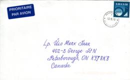 Estonia To Canada 2010 Cover Sc #634 9k Posthorn, Blue Dated 2010 - Estonie