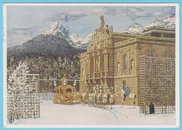 J.M. 24 - Entier Postal Privé - Allemagne - N° 13 - Compositeur - Louis II De Bavière - Chevaux - Montagne - Chateau - Musique