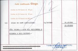 Invoice Of Liangol, Producer Of The Ginga Freeze-dried Coffee From Angola. Liangol. Café Ginga. Koffie. Kahvi. 2sc - Café & Thé