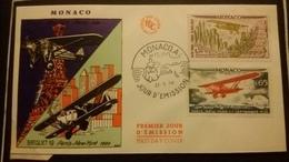 1°  Jour.d'émission..FDC ..MONACO .. 1964 ..   AVION . RYAN / BREGUET 19 - Joint Issues