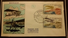 1°  Jour.d'émission..FDC ..MONACO .. 1964 ..   AVION . FARMAN / ALBATROS - Joint Issues