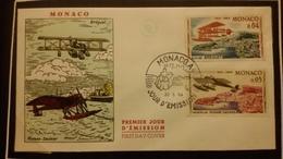 1°  Jour.d'émission..FDC ..MONACO .. 1964 ..   AVION . F BREGUET / MORANE SAULNIER - Joint Issues