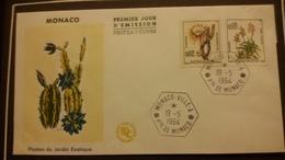 1°  Jour.d'émission..FDC ..MONACO .. 1964 ..  PLANTES  DU  JARDIN  EXOTIQUE - Joint Issues