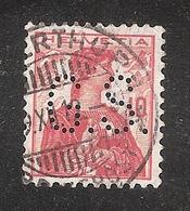 Perfin/perforé/lochung Switzerland No YT131 1909-1932 Hélvetie G.S.  Gebrüder Sulzer (AG) - Perforés