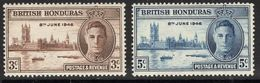 British Honduras, 1946, SG 162 - 163, Mint Hinged - British Honduras (...-1970)