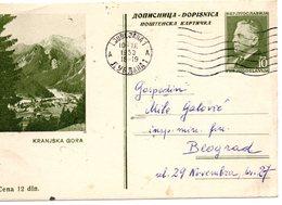 1953 YUGOSLAVIA, SLOVENIA, KRANJSKA GORA, TITO, POSTAL STATIONERY USED - Slovenia
