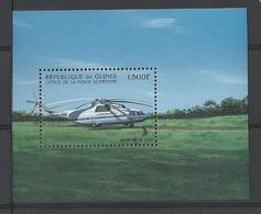 Guinée  Hélicoptère  YT** MNH  BF 162 - Hélicoptères