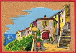 -- PEINTURE Sur LIEGE INALTERABLE - L'ENTREE DU VILLAGE - Carte Postale -- - Cartes Postales