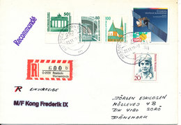 Germany Registered Ship Cover M/F Kong Frederik Sent To Denmark 29-12-1991 - [7] Federal Republic