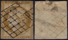 FRANCE   1 (o) Type Cérès 1850 (CV 330 €) - 1849-1850 Ceres