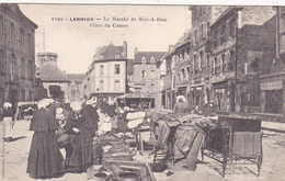 CPA (22) LANNION  Le Marché De Bric à Brac Marchands Ambulants  (2 Scans) - Lannion