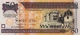 DOMINICAN REPUBLIC 50 PESOS DOMINICANOS 2012 P-183b UNC  [DO711a] - Dominicaine