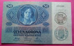 ITALIA - CROATIA - AUSTRIA CITY OF FIUME RIJEKA 50 KRONEN ND 1917-1919, WITH SEAL *SAVOY, D'ANNUNZIO* 262589 - Croatia