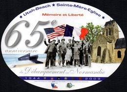 FRANCE 2009 - AUTOCOLLANT / STICKER - MEMORIE ET LIBERTE' - 65° ANNIVERSAIRE DU DEBARQUEMENT EN NORMANDIE - Adesivi