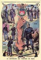 -- LE CENTENAIRE DES POMPIERS DE PARIS - AMICALE SOUS OFFICIERS 5eme COMPAGNIE 29 Novembre 1975 -- - Menus