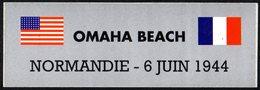 FRANCE - AUTOCOLLANT / STICKER - DEBARQUEMENT EN NORMANDIE - OMAHA BEACH - Adesivi